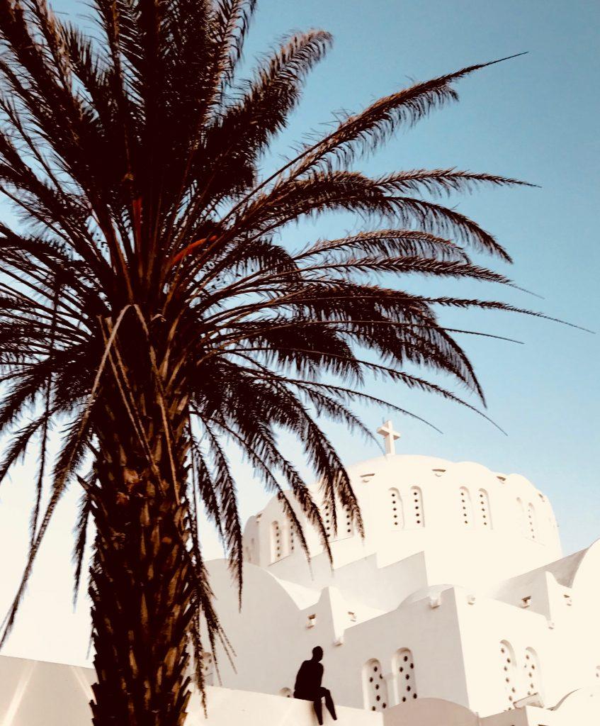 Palmiers et cathédrales blanchies à la chaux