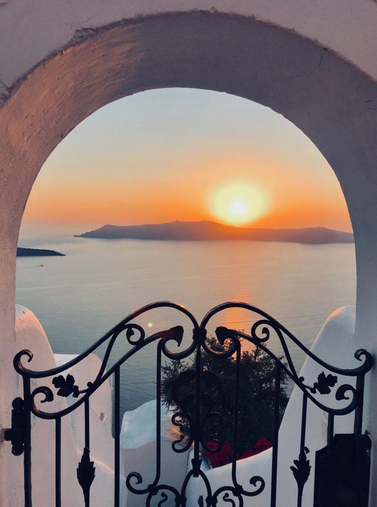 Coucher de soleil à Fira
