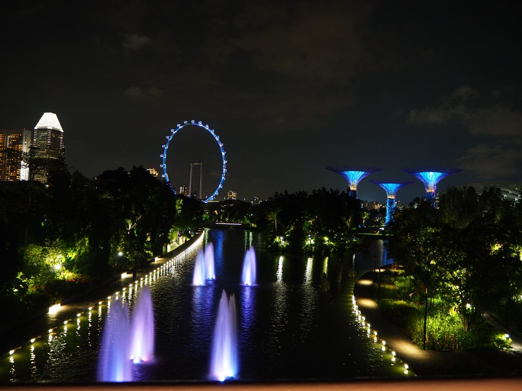 vue de nuit garden by the bay
