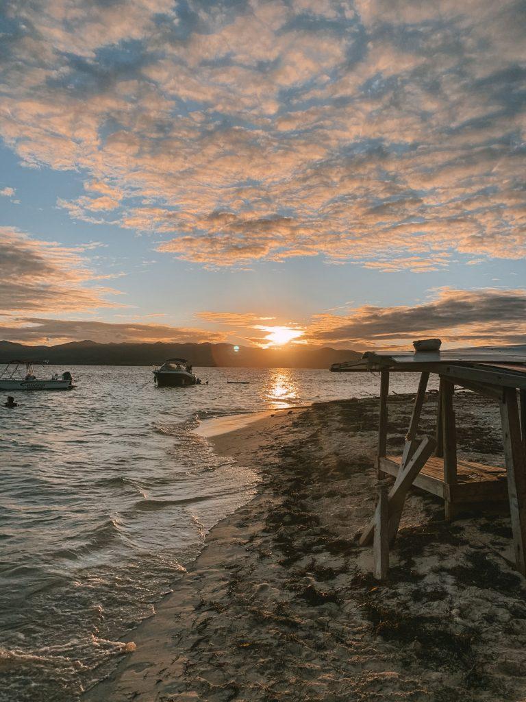 Coucher de soleil Ilet Caret - Grand cul-de-sac marin